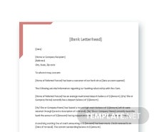 Free Bank Reference Letter Template