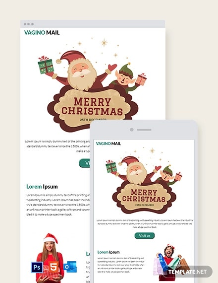 Free Christmas Promotion Newsletter Template