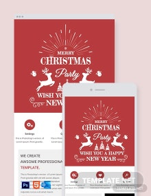 Free Simple Christmas Email Newsletter Template