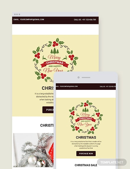 Free Christmas Sale Email Newsletter Template