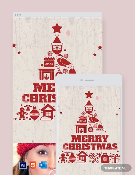 Vintage Christmas Email Newsletter Template