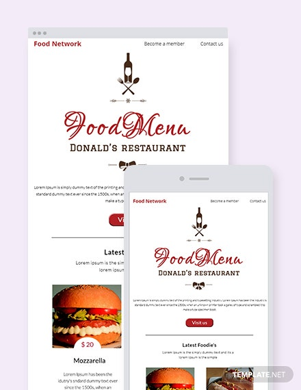 Free Restaurant Christmas Newsletter Template