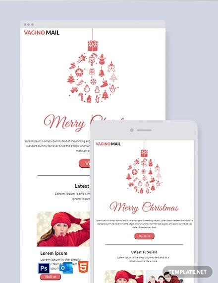 Free Christmas Email Newsletter Template