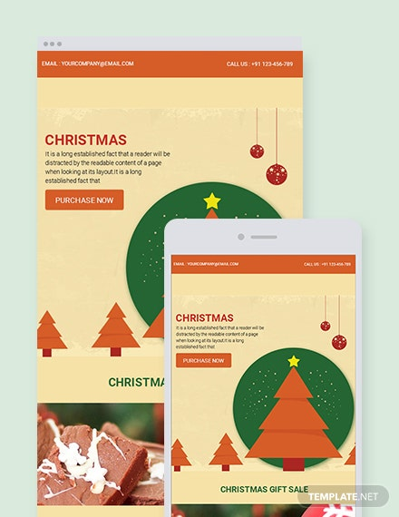 Free Retro Christmas Email Newsletter Template