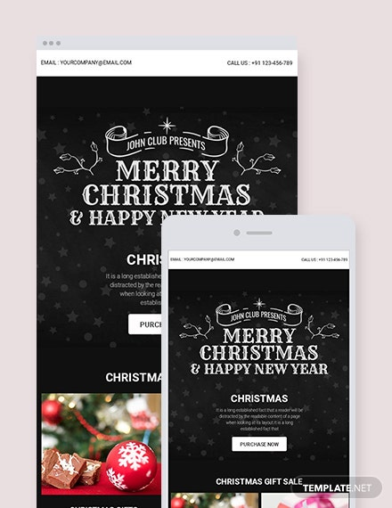 Free Chalkboard Christmas Newsletter Template