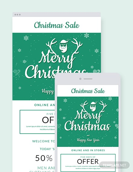 Free Christmas Offer Email Newsletter Template