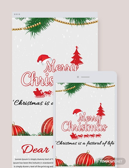 Free Christmas Festival Email Newsletter Template