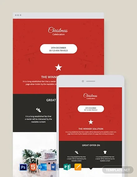 Free Christmas Newsletter Template