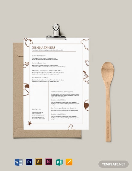 Modern Baby Shower Menu Template