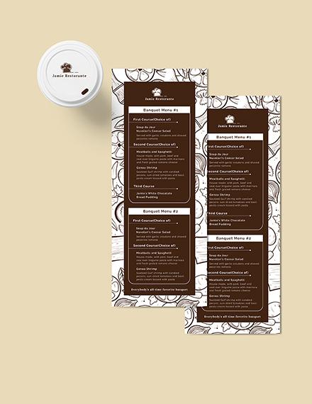 Vintage Banquet Menu Download