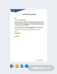 Free Medicaid Letter of Support