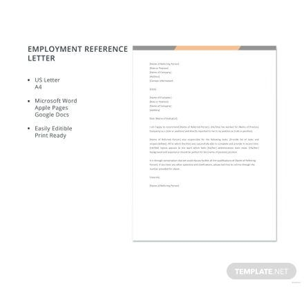 Free character reference letter template in microsoft word apple free employment reference letter template spiritdancerdesigns Images