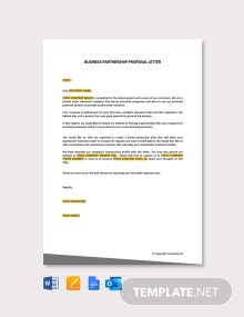 Free Business Partnership Proposal Letter