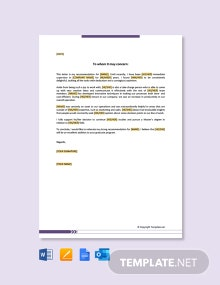 Free Letter of Recommendation for Graduate School from Supervisor