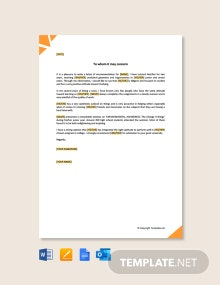 Free Personal Letter of Recommendation for College