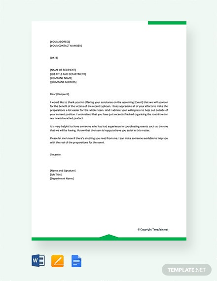 Free Professional Thank You Letter for support