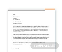 Free Formal Reference Letter Template