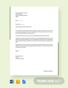 Free Media Partnership Proposal Letter Template