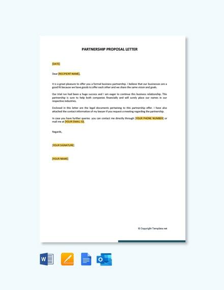Free Partnership Proposal Letter