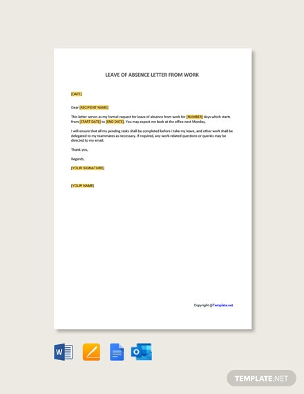 Free Leave of Absence Letter