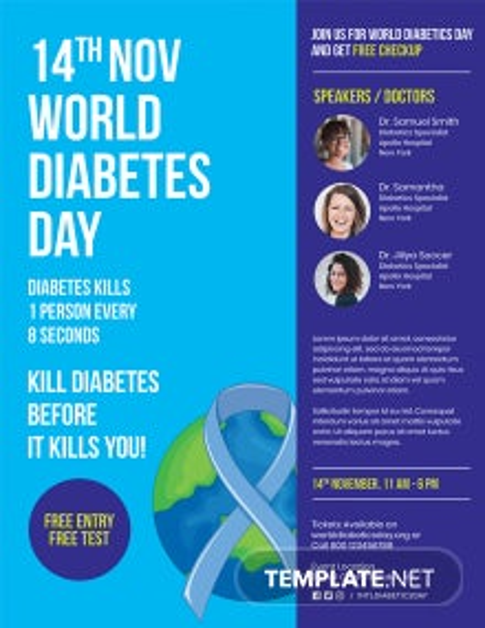 World Diabetes Day Flyer Template
