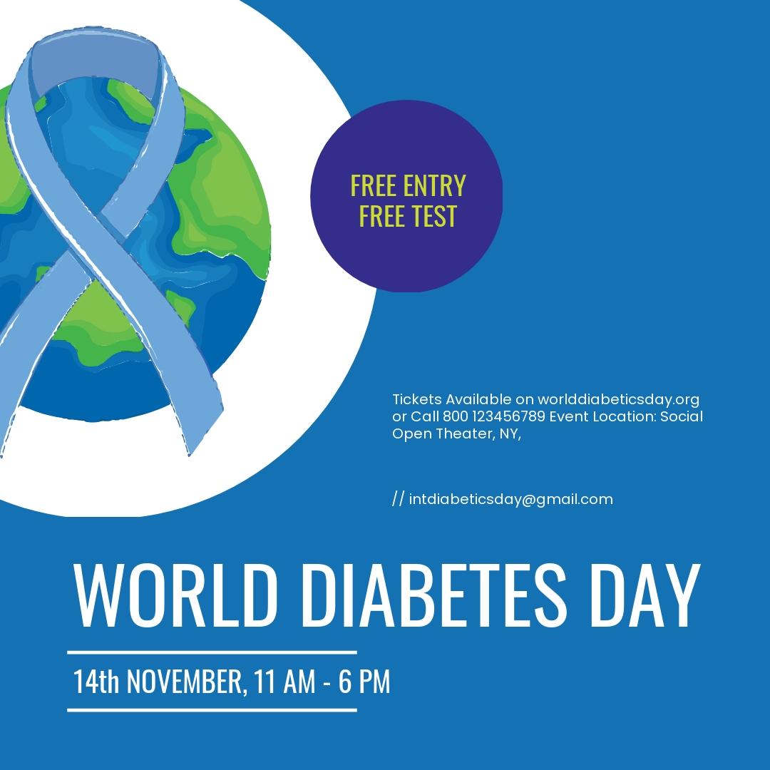 World Diabetes Day Instagram Post