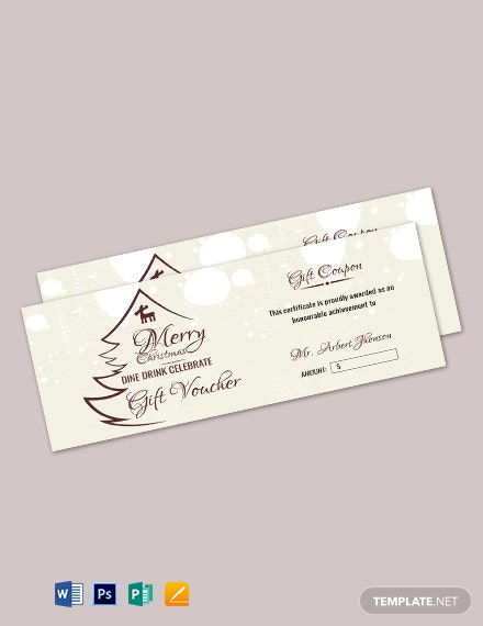 Free Christmas Food Gift Voucher Template