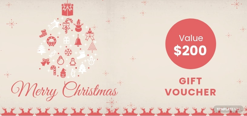 Merry Christmas Gift Voucher Template [Free JPG] - Word, Apple Pages, PSD, Publisher