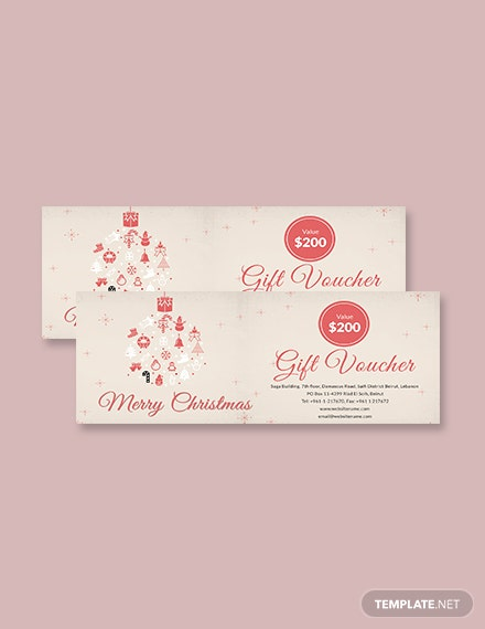Free Merry Christmas Gift Voucher Template