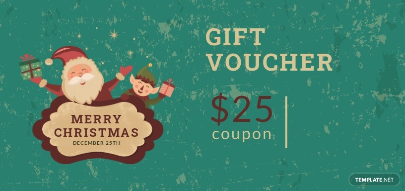 Free Modern Christmas Gift Voucher Template.jpe
