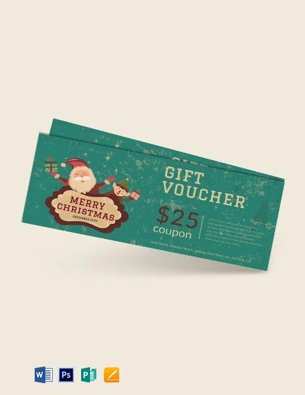 Free Modern Christmas Gift Voucher Template