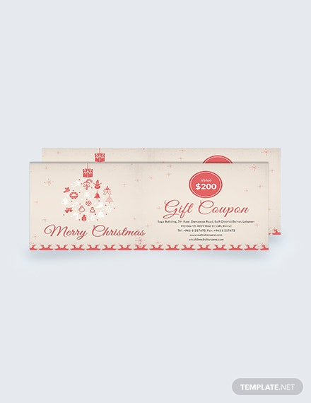 Free Christmas Discount Coupon Template