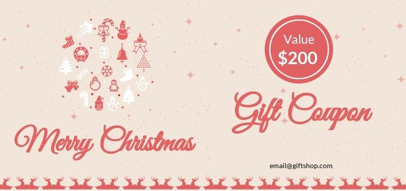 Christmas Discount Coupon Template