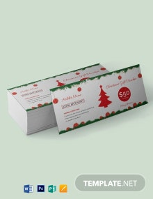Free Christmas Voucher Template
