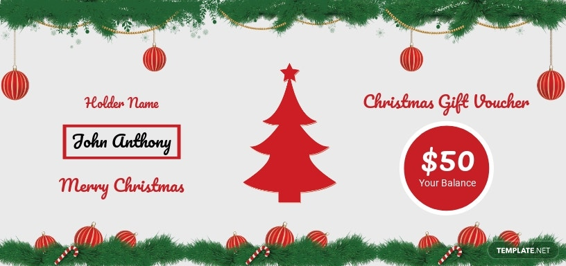 Christmas Voucher Template [Free JPG] - Word, Apple Pages, PSD, Publisher
