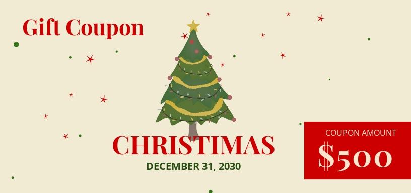 Christmas Gift Coupon Template