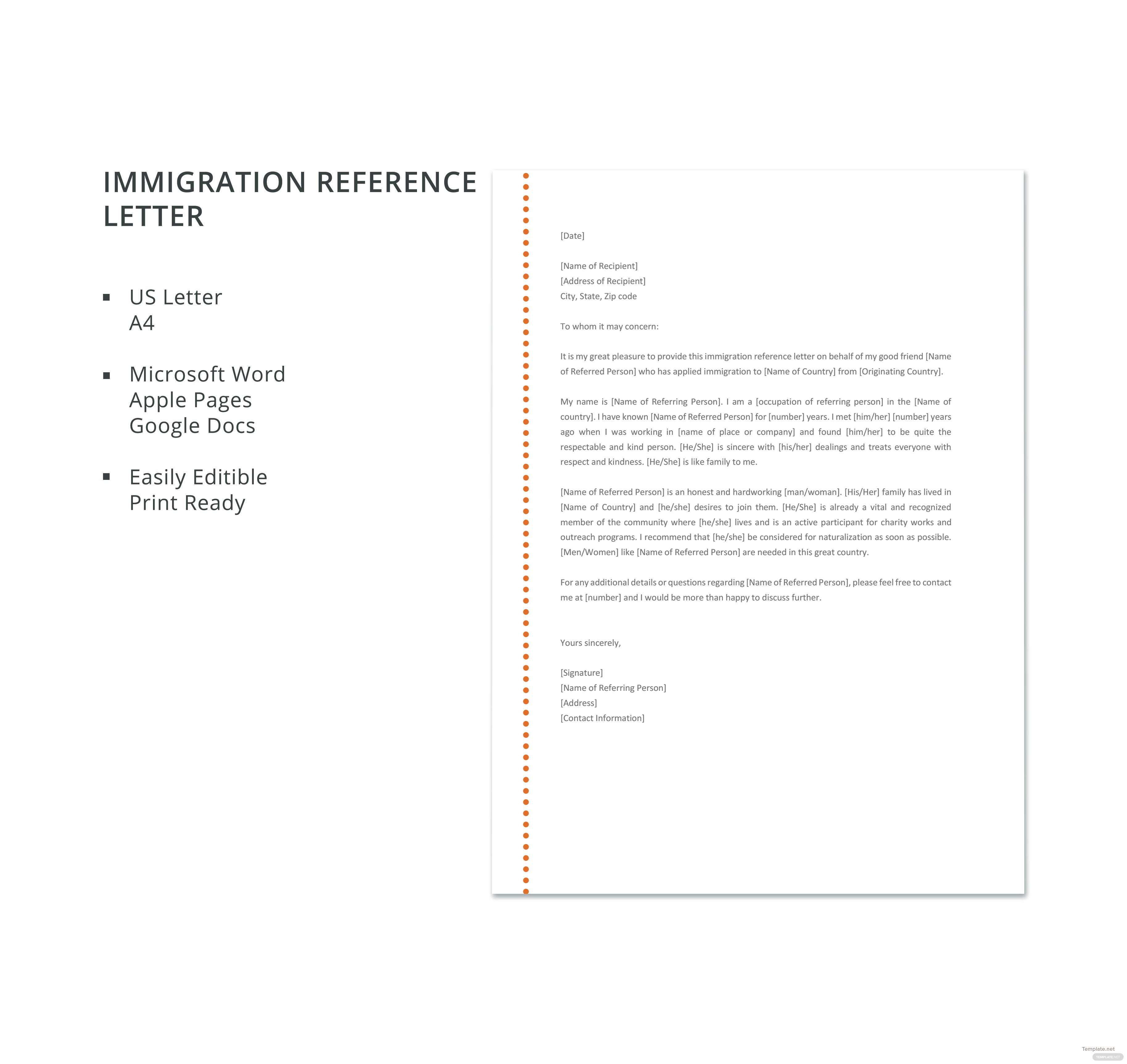 recommendation letter for immigration marriage letter