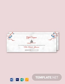 Free Simple Christmas Gift Coupon Template