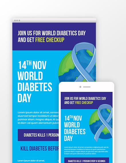 World Diabetes Day Newsletter Template
