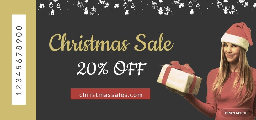Christmas Sale Coupon Template [Free JPG] - Word, Apple Pages, PSD, Publisher