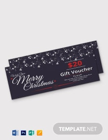 Free Generic Christmas Gift Voucher Template