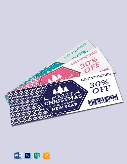Free Elegant Christmas Gift Voucher Template