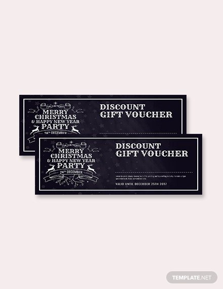 Free Merry Christmas Discount Gift Voucher Template