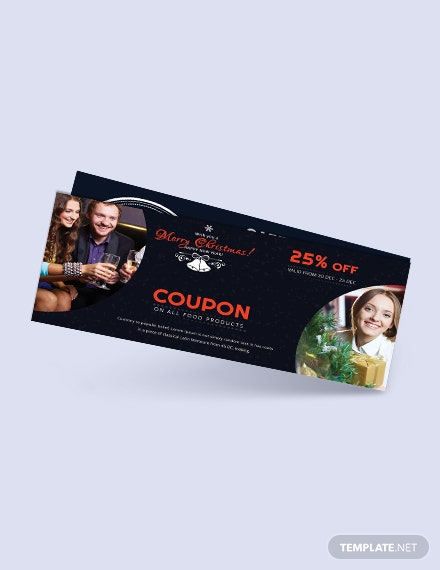 Free Merry Christmas Coupon Template