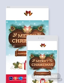 Free Creative Christmas Email Newsletter Template