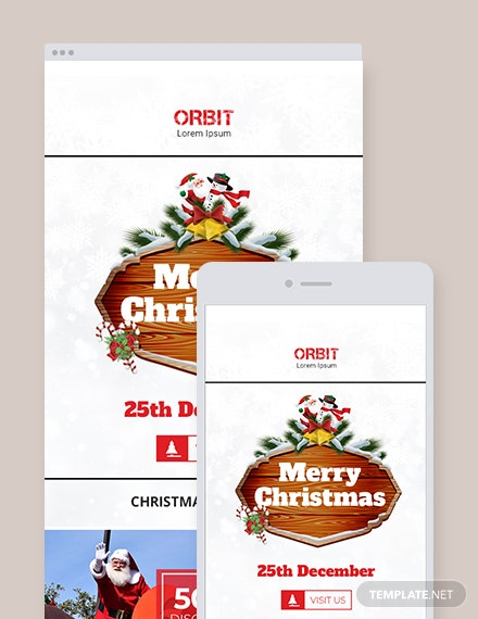 Free Christmas Holiday Email Newsletter Template