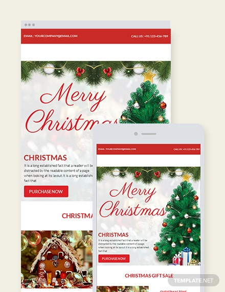 Free Christmas Gift Sale Newsletter Template