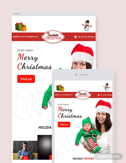 Free Christmas Holiday Offer Email Newsletter Template