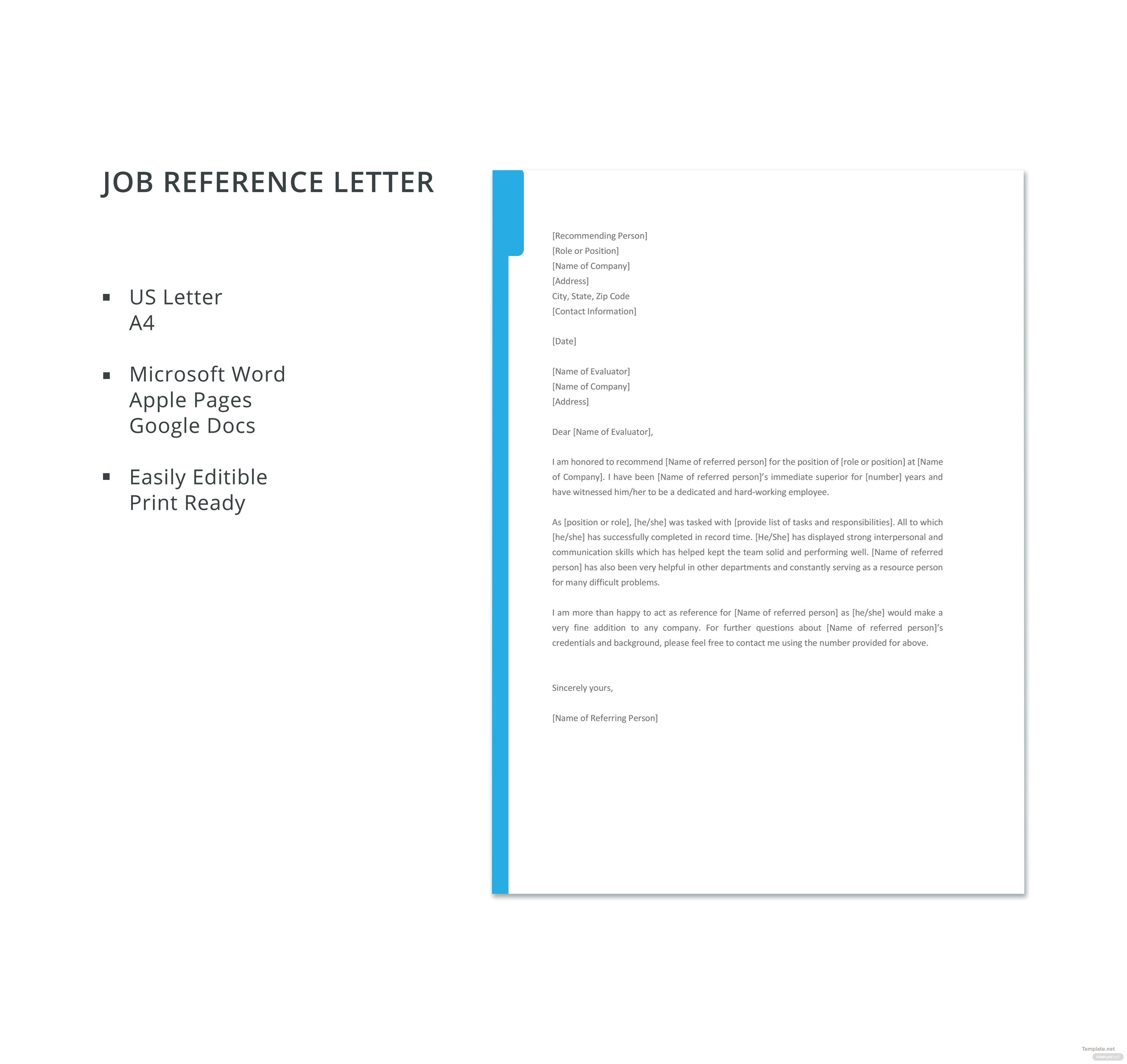 Job reference template microsoft word idealstalist job reference template microsoft word spiritdancerdesigns Choice Image