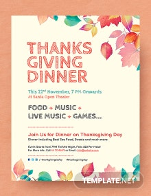 Free Thanksgiving Dinner flyer Template